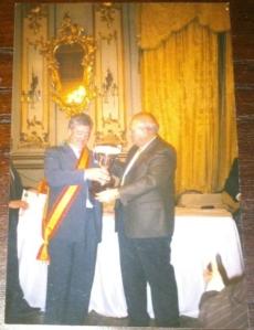 Recibiendo un premio nacional